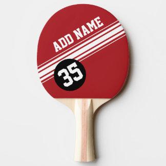 Cru emballant des rayures - rouge et noir raquette tennis de table