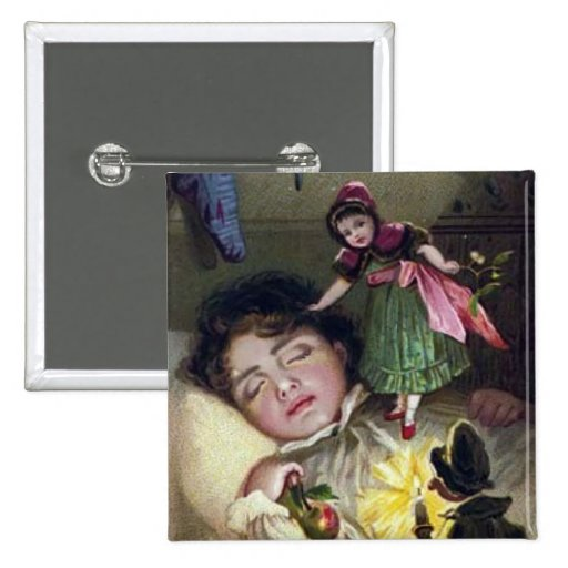 Cru - enfant et fée de sommeil magnifiques badge avec épingle