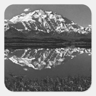 Cru Etats-Unis Alaska mt magnifique McKinley 1970 Sticker Carré