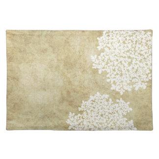 Cru floral blanc sets de table