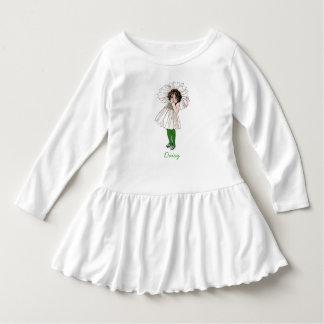 Cru floral mignon d'enfant de fleur de petite robe manches longues