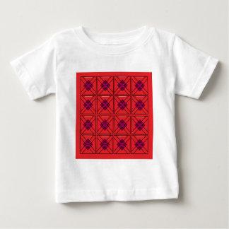 Cru FOLKLORIQUE ROUGE d'art de mandala. Magasin de T-shirt Pour Bébé