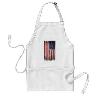 Cru grunge en bois de drapeau américain tablier