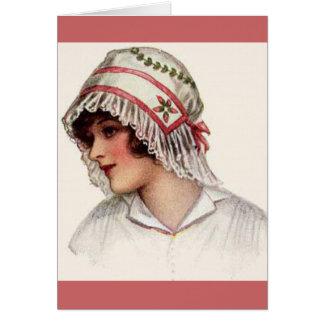 Cru - illustration des casquettes des femmes carte de vœux