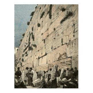 Cru juif de Kotel Buraq Jérusalem de mur pleurant Carte Postale