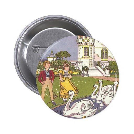 Cru le conte de fées de vilain petit canard par Ha Badge Avec Épingle