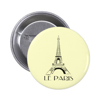 cru le Paris Badge Rond 5 Cm