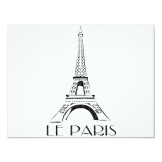 cru le Paris Carton D'invitation 10,79 Cm X 13,97 Cm