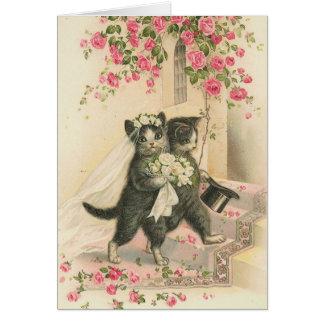 Cru - les chats de mariage carte de vœux