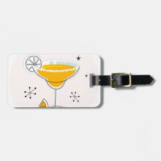 Cru mignon de cocktail de margarita d'or étiquettes bagages
