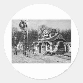 Cru Missouri de cabines de station service et de Autocollants Ronds