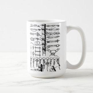Cru nautique de diagramme de noeuds mug