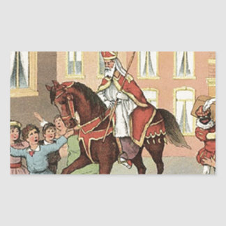 Cru néerlandais Saint-Nicolas de St Nick de Sticker Rectangulaire