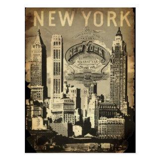 Cru New York de point de repère de voyage des Etat Cartes Postales