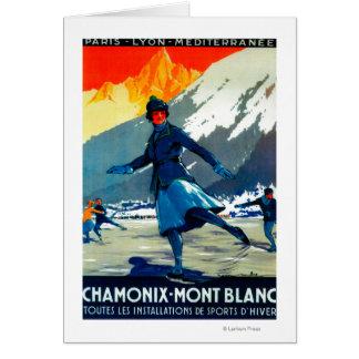 Cru PosterEurope de Chamonix-Mont Blanc Carte De Vœux