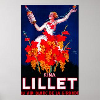 Cru PosterEurope de Lillet de kinas Posters