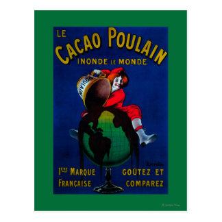 Cru PosterEurope de Poulain de cacao Carte Postale