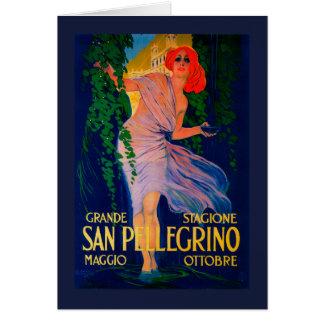 Cru PosterEurope de San Pellegrino Carte De Vœux