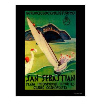 Cru PosterEurope de San Sebastian Carte Postale