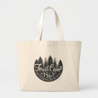 Cru rond de camp de forêt grand tote bag