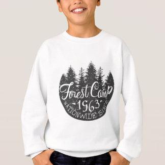 Cru rond de camp de forêt sweatshirt