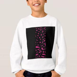 Cru rose noir d'ornements sweatshirt
