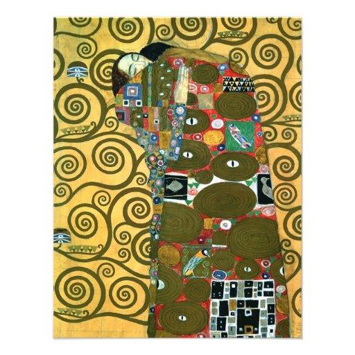 Cru RSVP, réalisation (l'étreinte) par Klimt Carton D'invitation