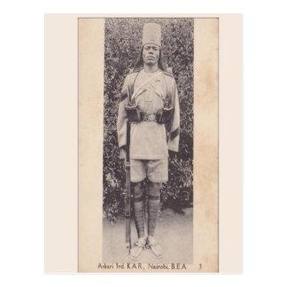 Cru, soldat de Commonwealth, Nairobi, Kenya Carte Postale
