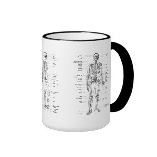 Cru - squelette marqué - avant, dos et partie laté tasses à café