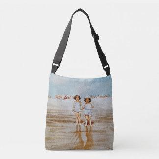 Cru tout plus de - imprimez la beauté croisée de sac ajustable