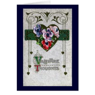 Cru Valentine d'anémones Carte De Vœux