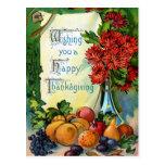 """Cru """"vous souhaitant bon thanksgiving"""" cartes postales"""