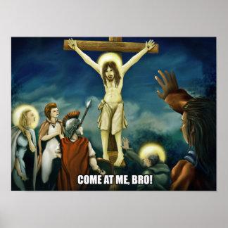 Crucifixation - affiche peu intellectuelle 12x16 d posters