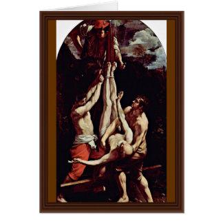 Crucifixion de St Peter par Reni Guido Cartes