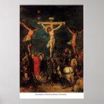 Crucifixion du Christ par Frans I Francken Affiche