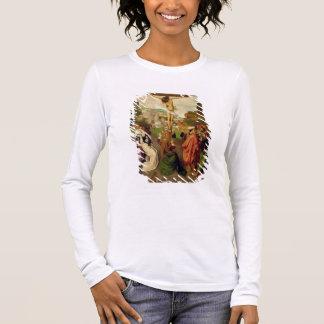 Crucifixion (huile sur le panneau) t-shirt à manches longues
