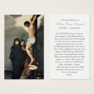 Crucifixion sainte funèbre de la carte   Jésus de