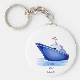 cruise1, juste cruisin - customisé porte-clé rond