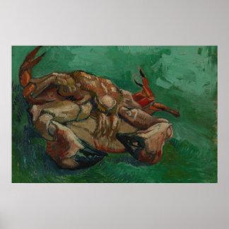 Crustacé se trouvant sur le sien de retour par Van Posters
