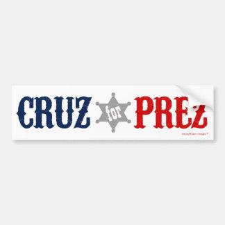 Cruz pour Prez - Ted Cruz pour le Président Red Autocollant De Voiture