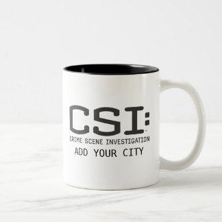 CSI/ajoutent votre ville Tasse 2 Couleurs