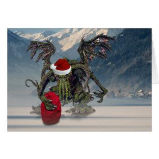 Cthulhu Père Noël Carte De Vœux