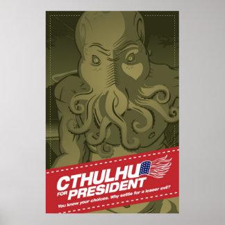 Cthulhu pour le Président Poster