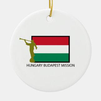 CTR DE LA MISSION LDS DE LA HONGRIE BUDAPEST ORNEMENT ROND EN CÉRAMIQUE