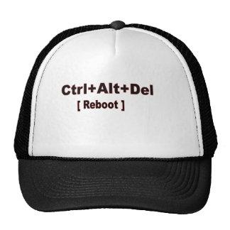 CTRL+alt+del, remise à zéro Casquettes De Camionneur