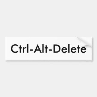 CTRL-Alt-Suppression Autocollant De Voiture