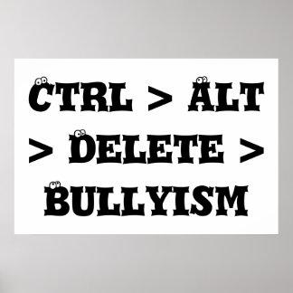 CTRL > alt > suppression > Bullyism - anti despote Poster