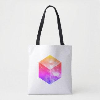 Cube cosmique - le double a dégrossi tote bag