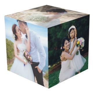 Cube en affichage de photo de mariage