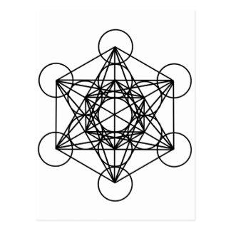 Cube en Metatron Carte Postale